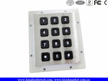 Rugged Water-proof Vandal-proof Keypad with 12 Back-lit Keys Ideal for Dark Environment