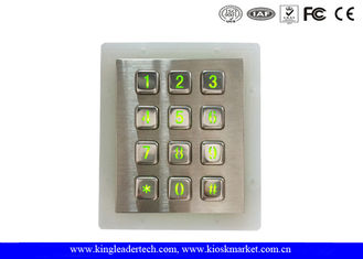 Weatherproof Green Backlit Metal Keypad For Low - Lit Environment