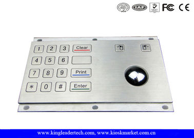 USB Stainless Steel Industrial Numeric Keypad With 16 Keys And Optical Trackball For Equipment