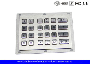 24 Metal Keys Industrial Numeric Keypad Vandal Proof For Kiosk And Gas Stations
