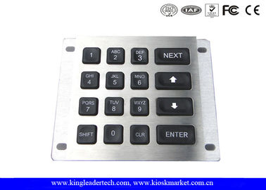 16 Keys Led Illuminated Blacklit Metal Keypad With IP65 Rated For Panel Mount
